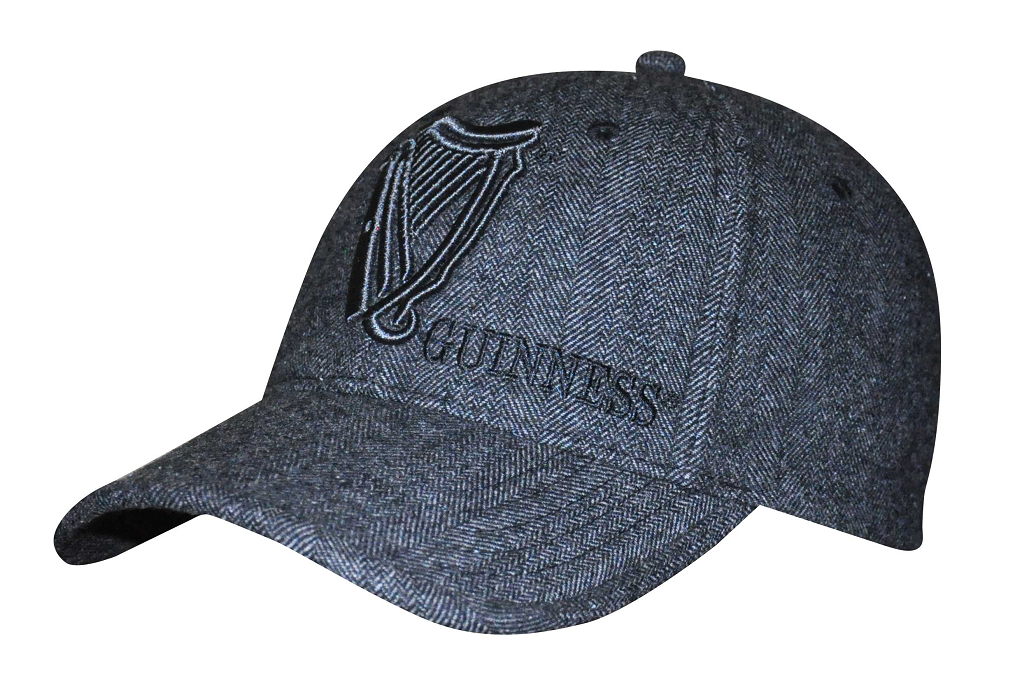 Guinness® Tweed Vintage Harp Baseball Cap