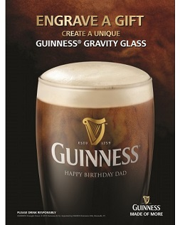 Guinness® Personalized Gravity Pint Glass