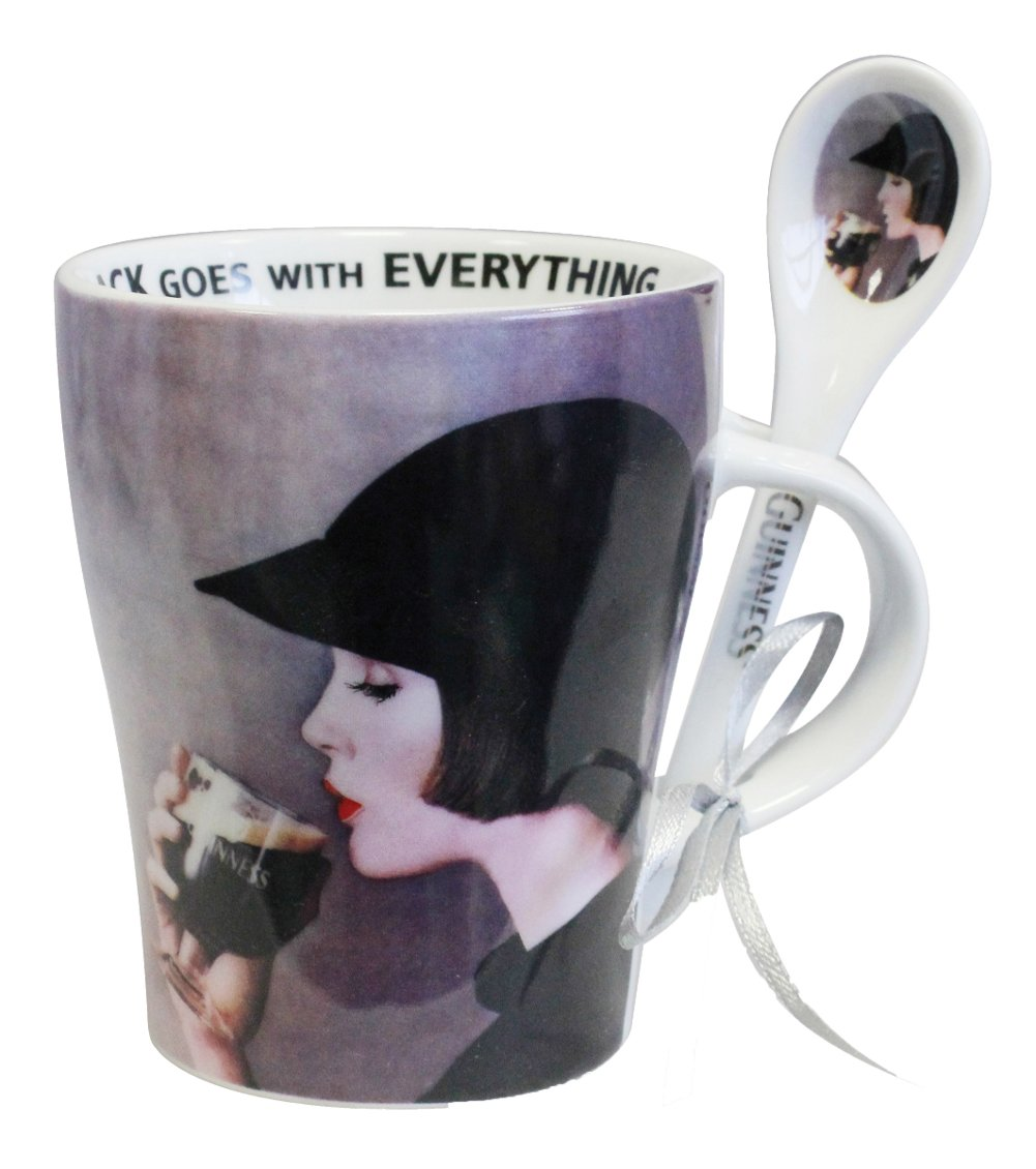 Guinness Lady Mug & Spoon
