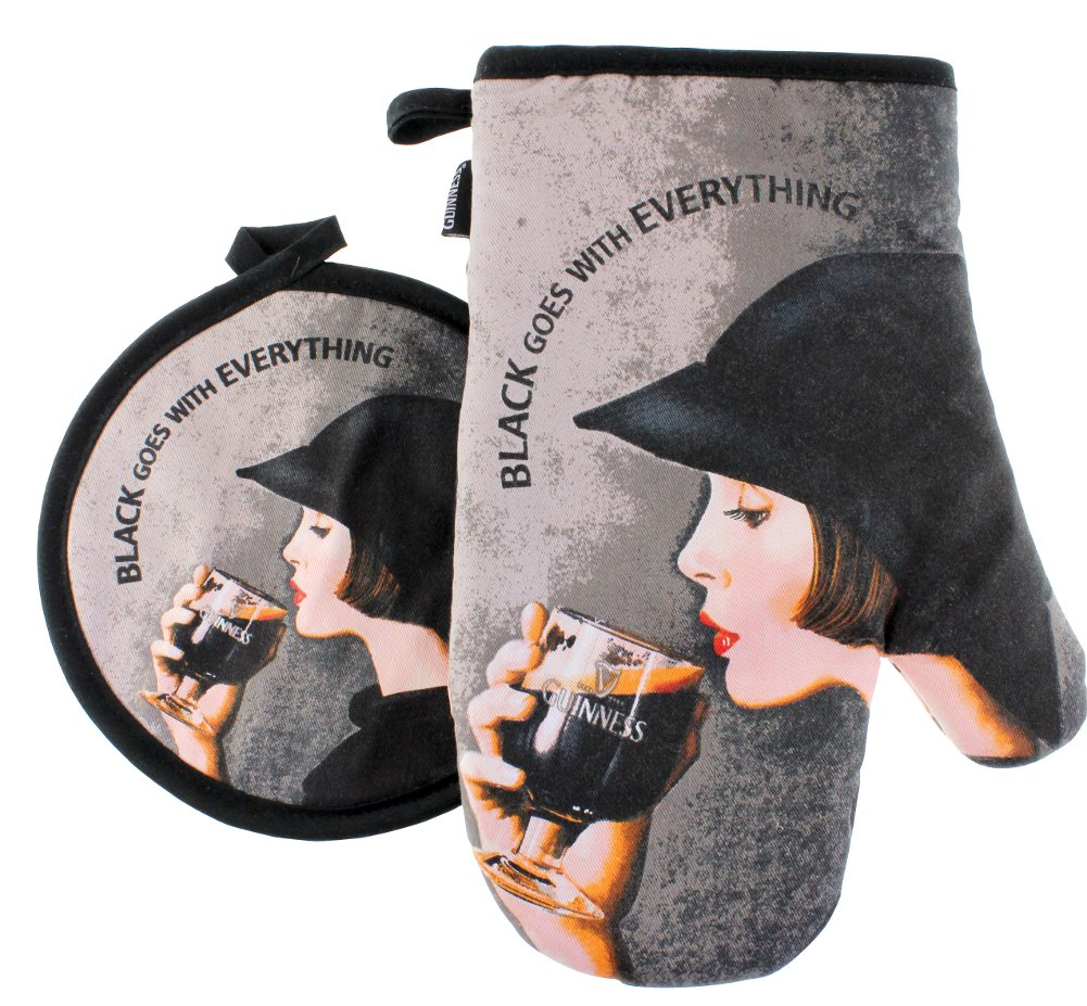 Guinness Lady Oven Glove and Pot Holder