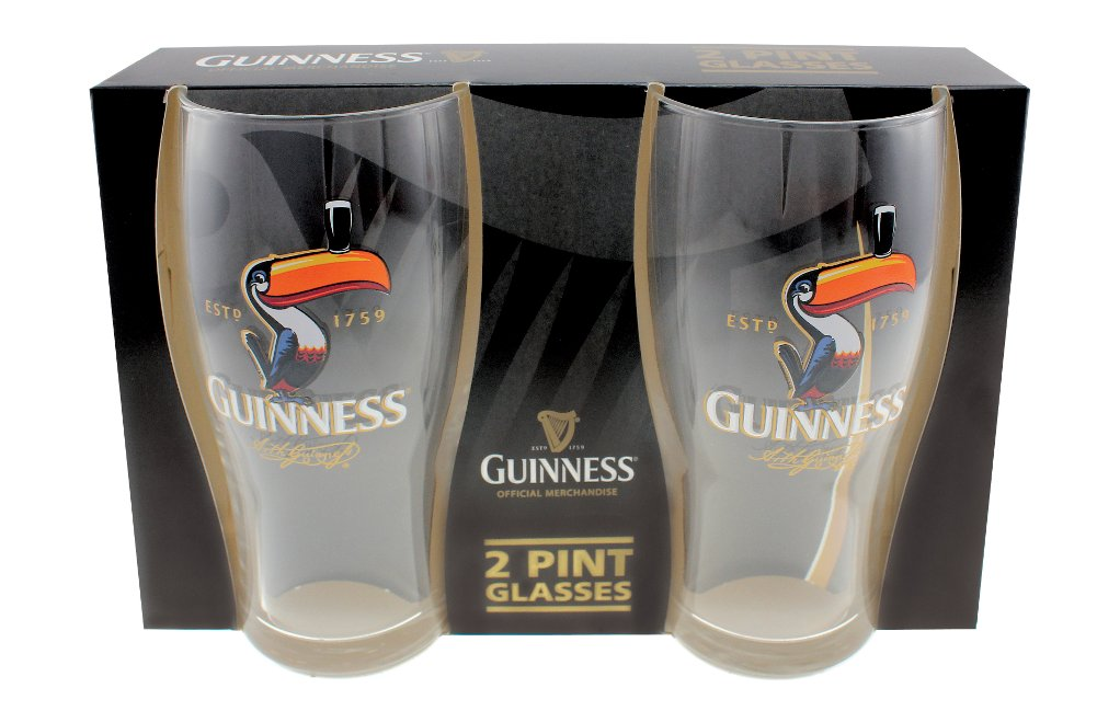 Guinness® Toucan Pint Glass Set of 2